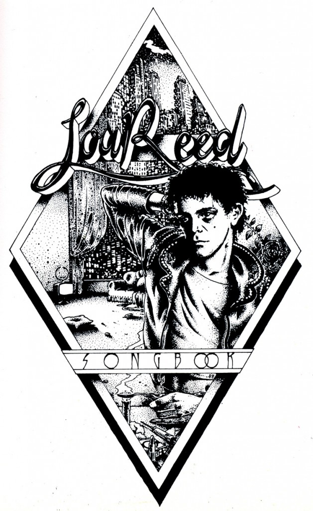Lou Reed, getekend door Peter Pontiac